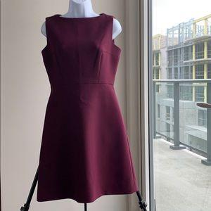 Kate Spade maroon sleeveless a-line dress